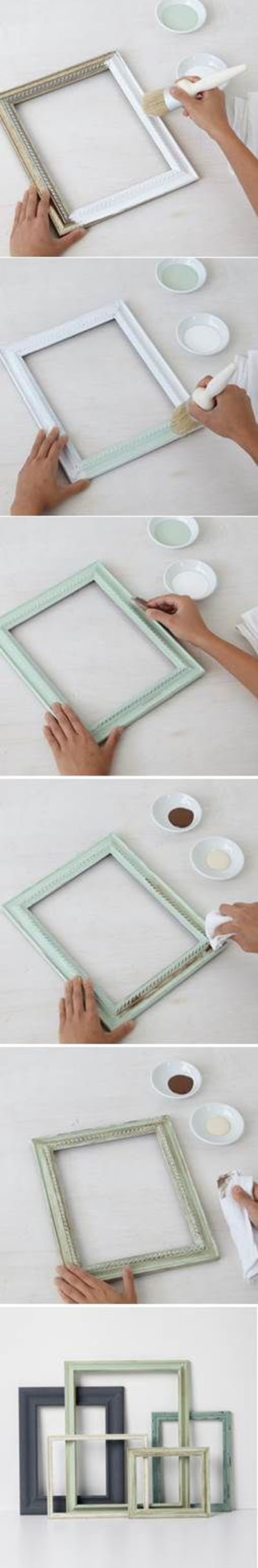 3 Make beautiful frames with Vintage Decor Paint and Wax 829acd1