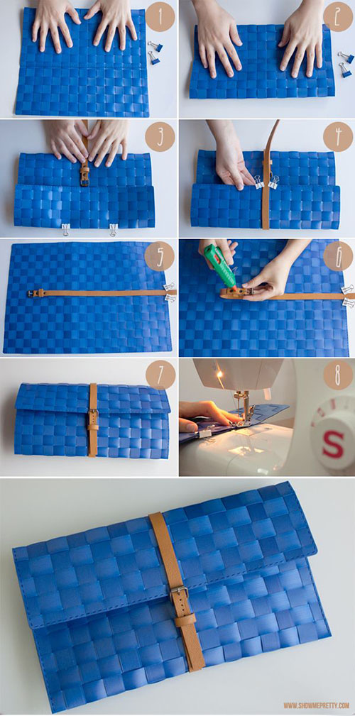 5 How to make a clutch out of a place mat 3f7