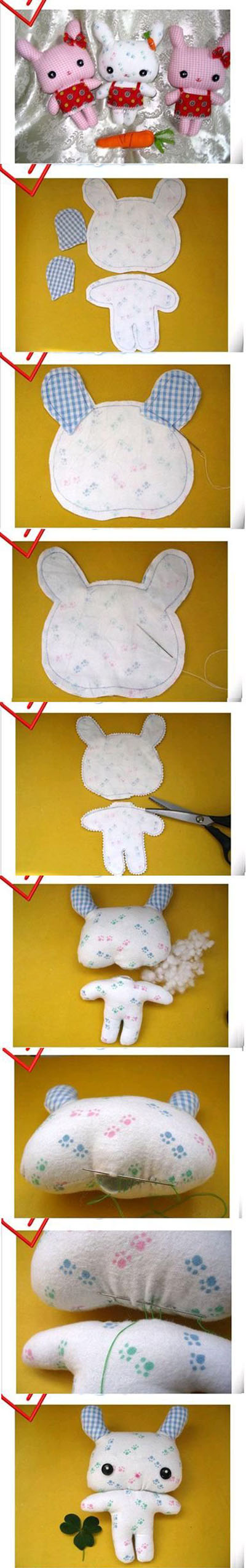8 DIY Cute Fabric Bunny 1f632f06c3a3