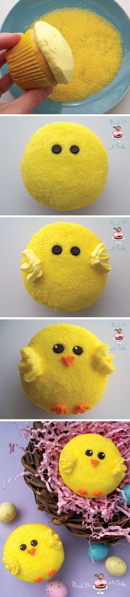 8 Easter Chick Cupcakes 5dca2