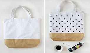 DIY Painted Totes
