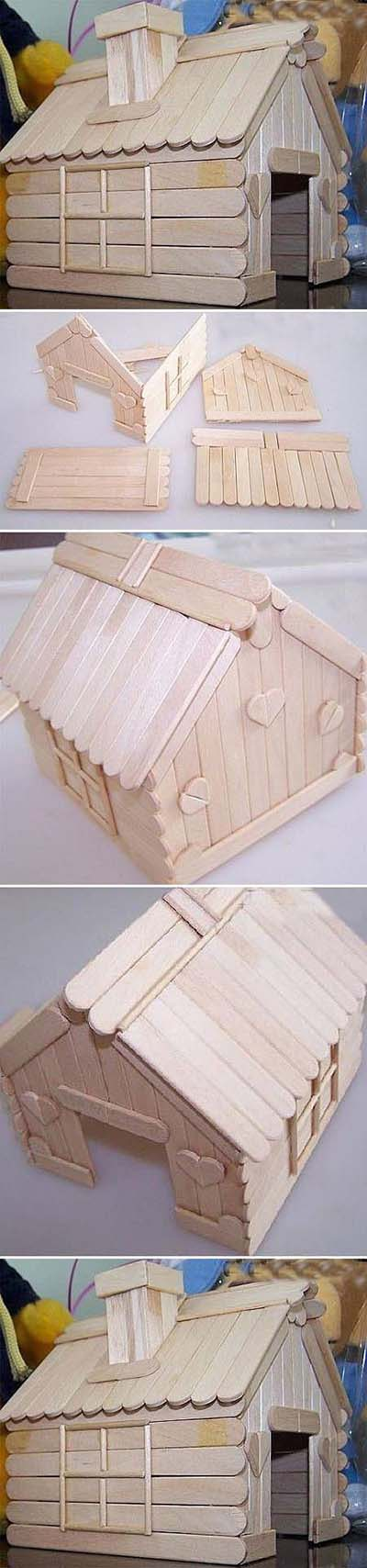 2 e9e702f2 DIY Popsicle Stick House c