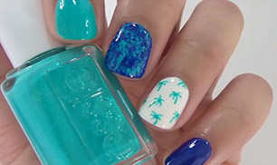 Nice Nail Design Palm Trees