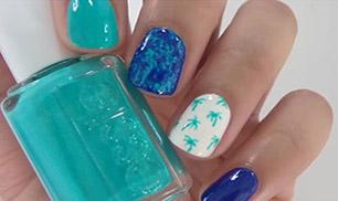 Nice Nail Design Palm Trees